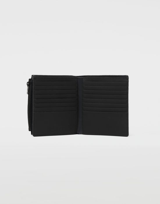 MAISON MARGIELA Large fold-out leather zipped wallet Wallet [*** pickupInStoreShippingNotGuaranteed_info ***] d