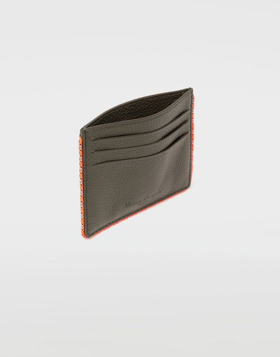 MAISON MARGIELA Piped leather cardholder Wallets [*** pickupInStoreShippingNotGuaranteed_info ***] d