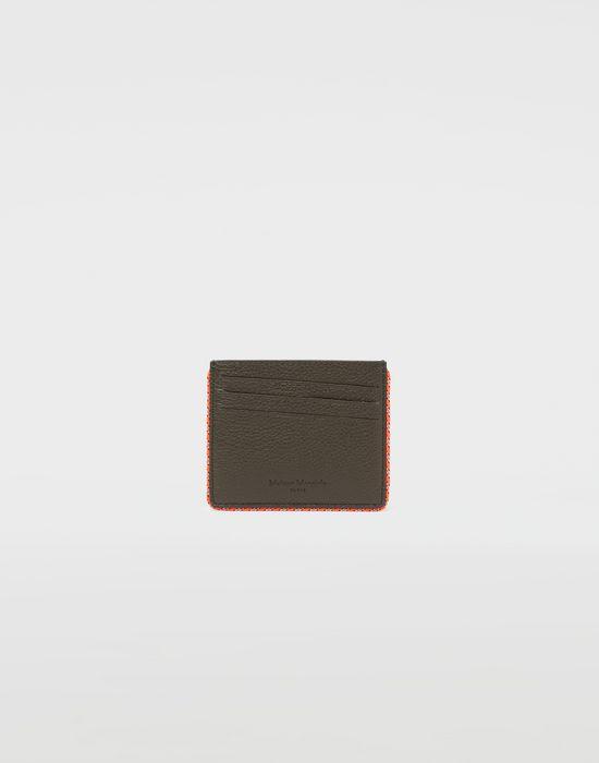 MAISON MARGIELA Piped leather cardholder Wallet [*** pickupInStoreShippingNotGuaranteed_info ***] f