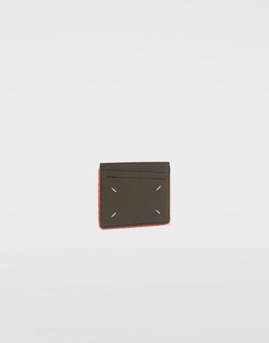 MAISON MARGIELA Piped leather cardholder Wallet [*** pickupInStoreShippingNotGuaranteed_info ***] r