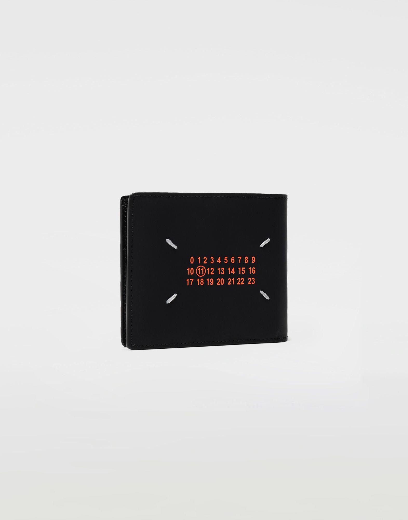 MAISON MARGIELA Logo-embossed leather cardholer Wallets Man r