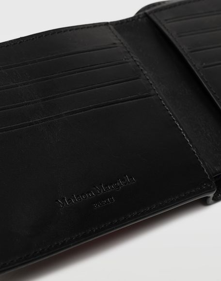 MAISON MARGIELA Logo-embossed leather cardholer Wallets Man a