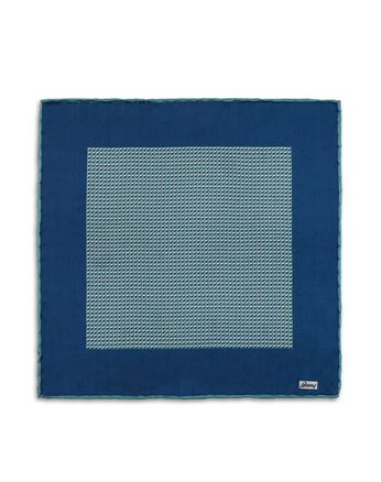 Teal Micro Design Pocket Square
