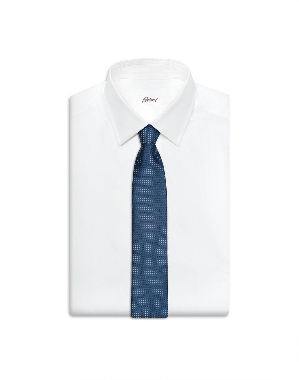 BRIONI Blue Micro Design Tie Tie [*** pickupInStoreShippingNotGuaranteed_info ***] e