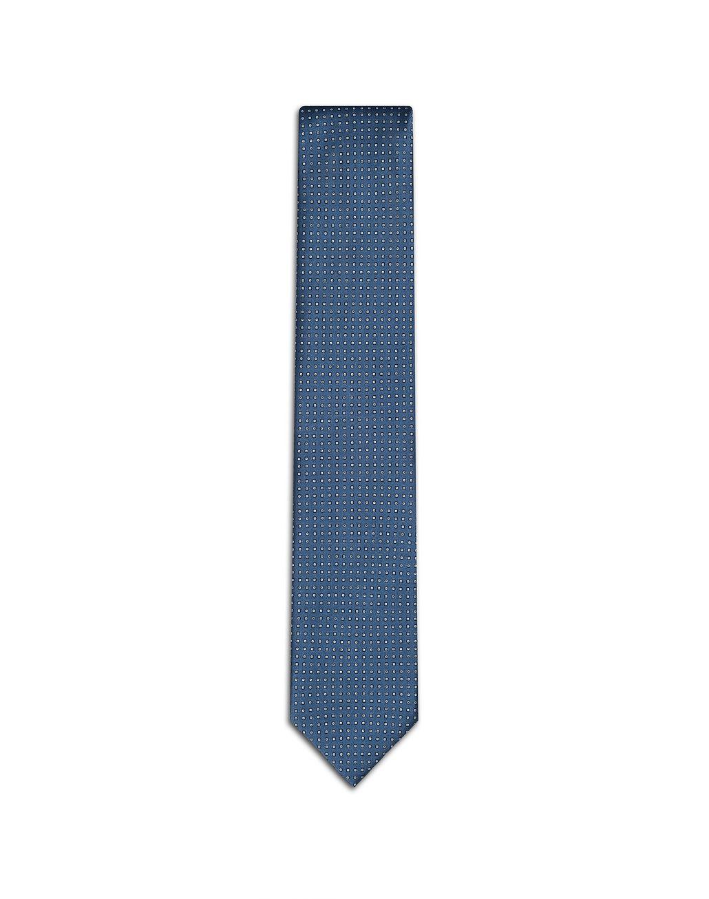 BRIONI Blue Micro Design Tie Tie [*** pickupInStoreShippingNotGuaranteed_info ***] f