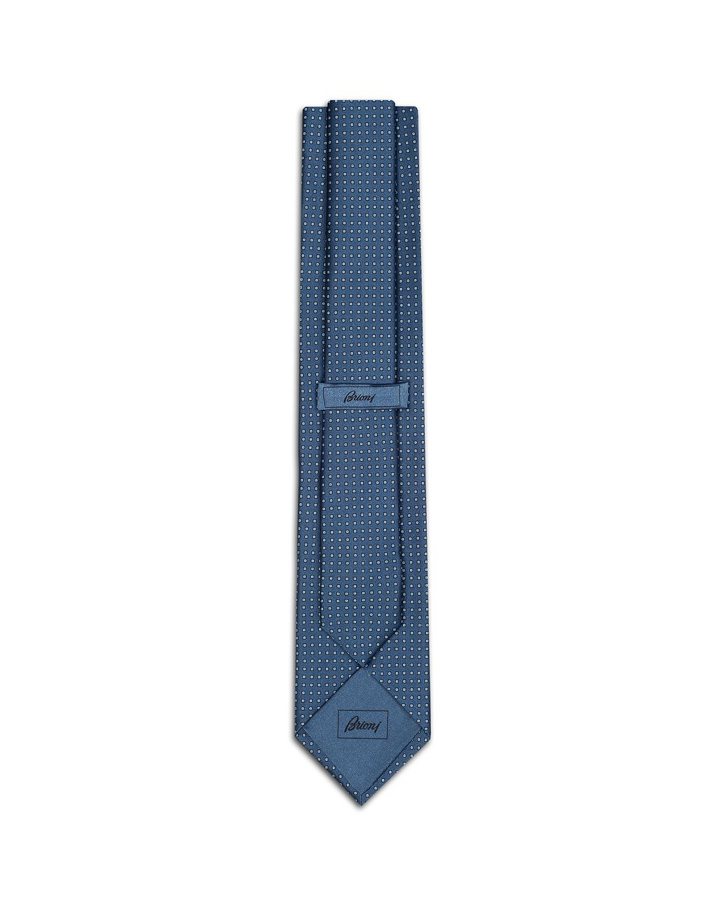 BRIONI Blue Micro Design Tie Tie [*** pickupInStoreShippingNotGuaranteed_info ***] r