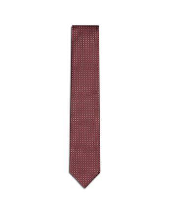Бордовый галстук с микроузором