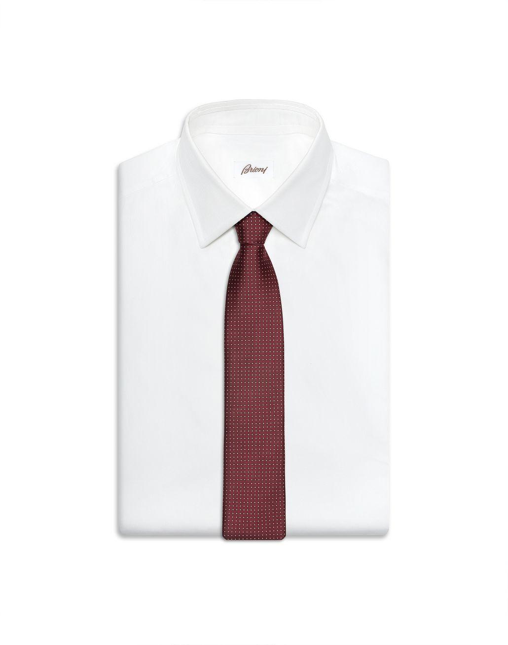 BRIONI Burgundy Micro Design Tie Tie Man e
