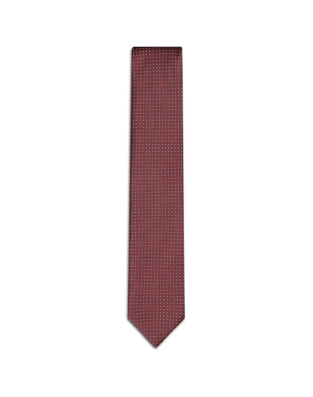 BRIONI Cravate avec motif miniature bordeaux Cravate Homme f