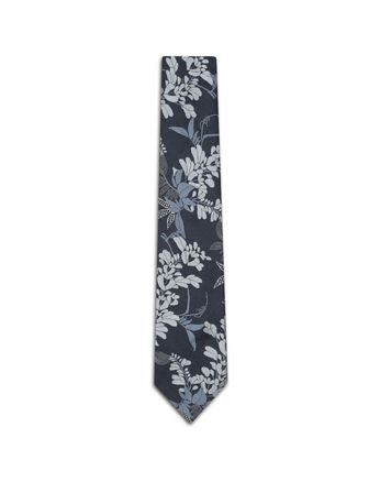 Navy Blue Macro Design Tie