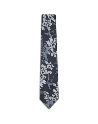 Тёмно-синий галстук с макроузором