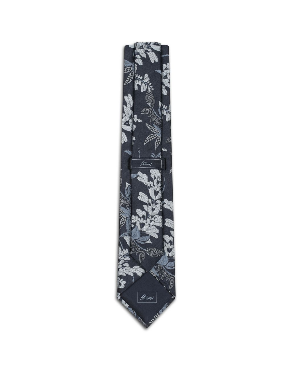 BRIONI Navy Blue Macro Design Tie Tie [*** pickupInStoreShippingNotGuaranteed_info ***] r