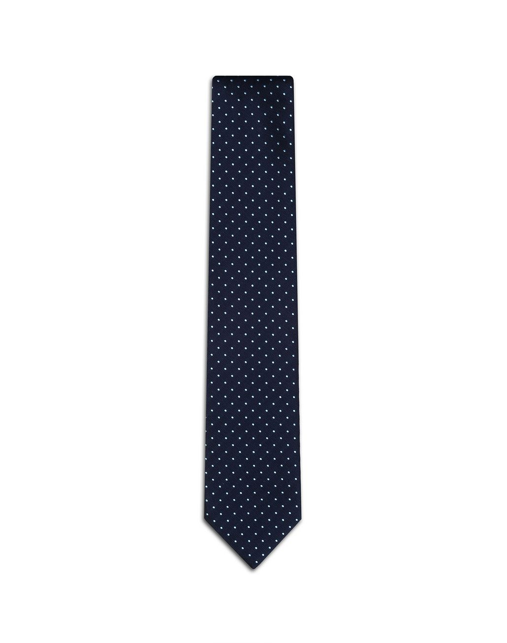 BRIONI Navy Blue Dotted Tie Tie Man f