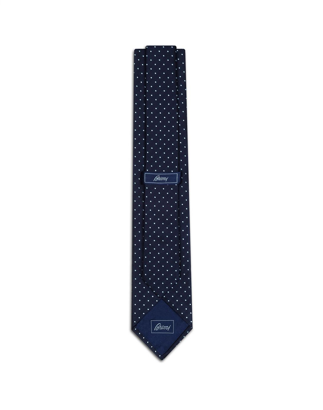 BRIONI Navy Blue Dotted Tie Tie [*** pickupInStoreShippingNotGuaranteed_info ***] r