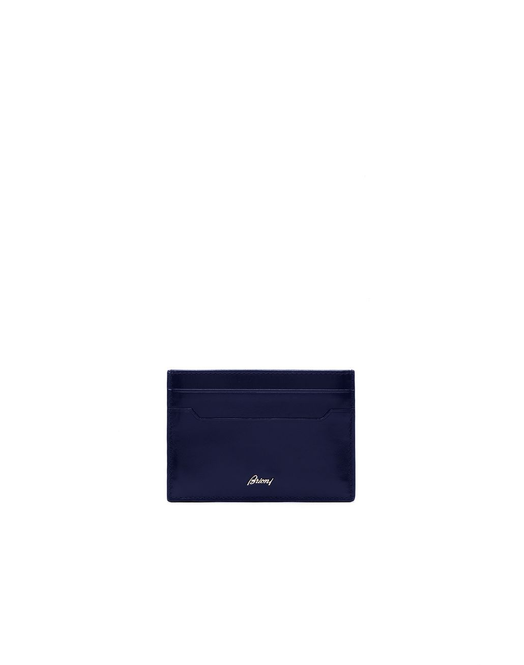 BRIONI Indigo Blue Clip Wallet Leather Goods Man f