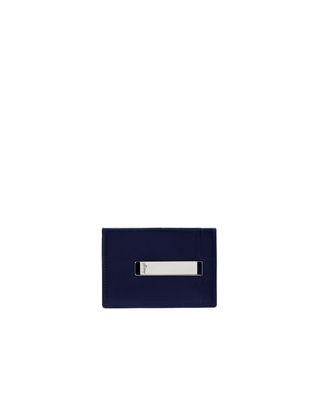 BRIONI Indigo Blue Clip Wallet Leather Goods [*** pickupInStoreShippingNotGuaranteed_info ***] r