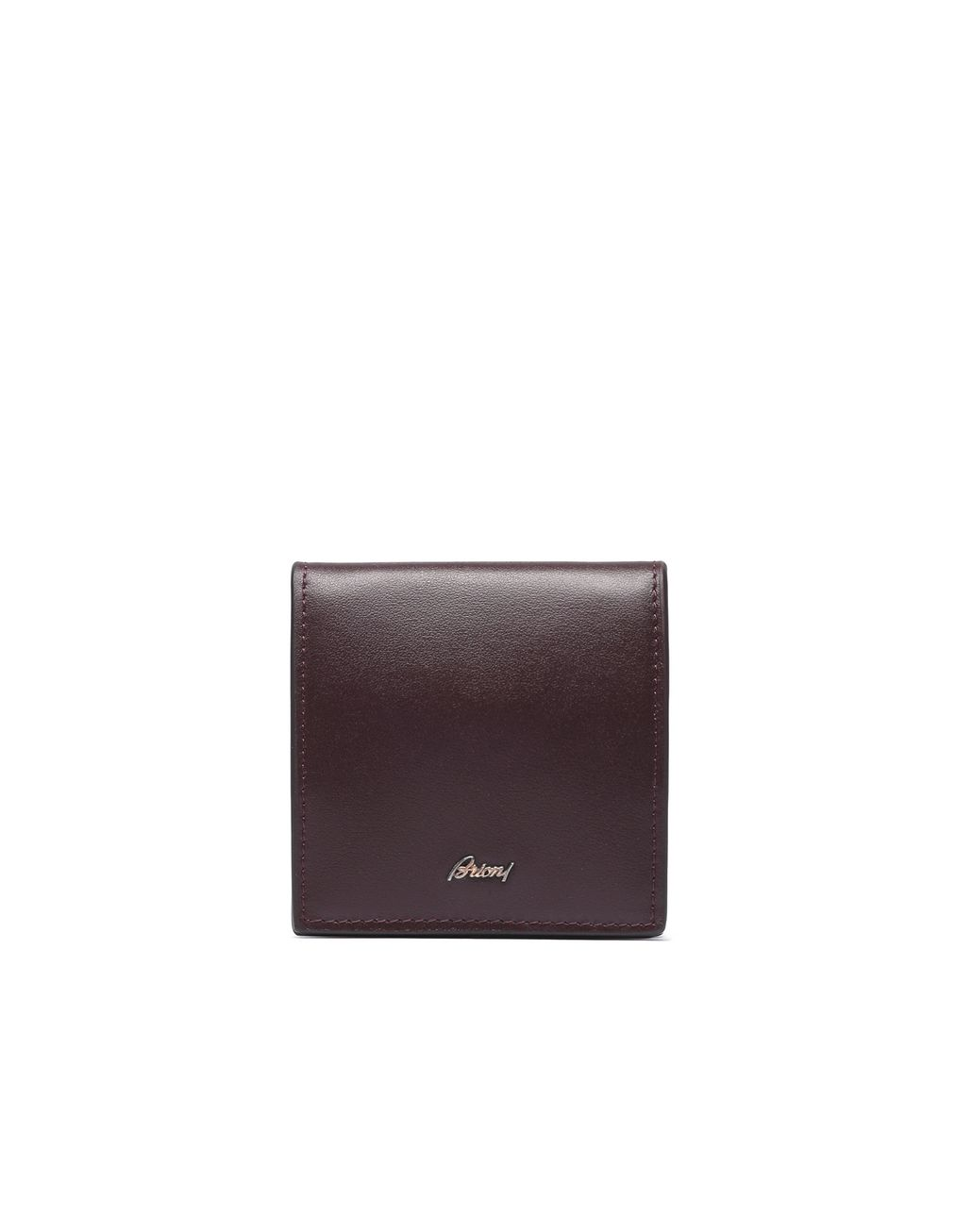 BRIONI Oxblood Coin Pocket Leather Goods Man f