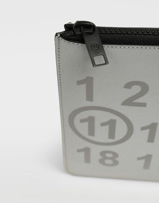 MAISON MARGIELA Silver logo-embellished leather clutch Wallet [*** pickupInStoreShippingNotGuaranteed_info ***] a