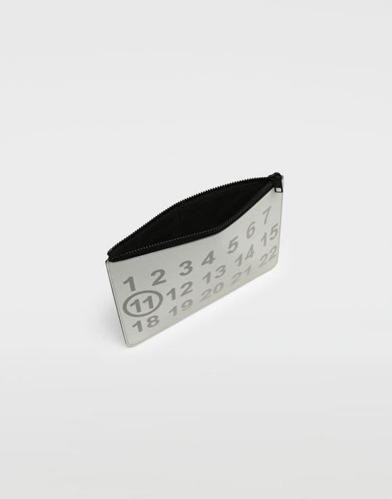 MAISON MARGIELA Silver logo-embellished leather clutch Wallet [*** pickupInStoreShippingNotGuaranteed_info ***] d