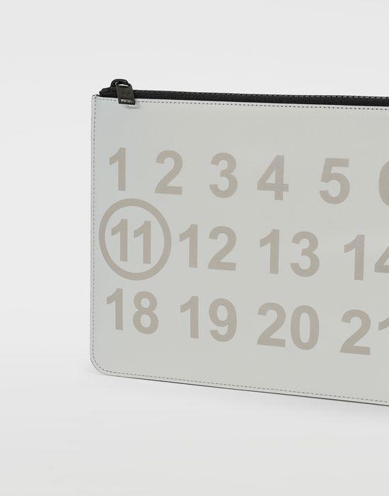 MAISON MARGIELA Silver logo-embellished leather clutch Wallet [*** pickupInStoreShippingNotGuaranteed_info ***] e