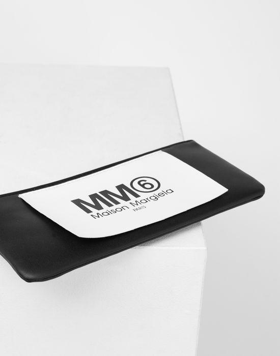 MM6 MAISON MARGIELA Logo tab zip leather pochette Wallet [*** pickupInStoreShipping_info ***] d