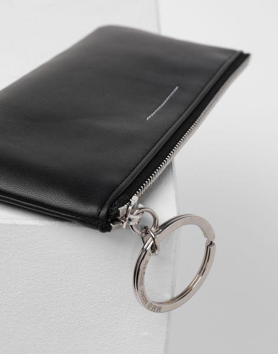 MM6 MAISON MARGIELA Logo tab zip leather pochette Wallet [*** pickupInStoreShipping_info ***] e