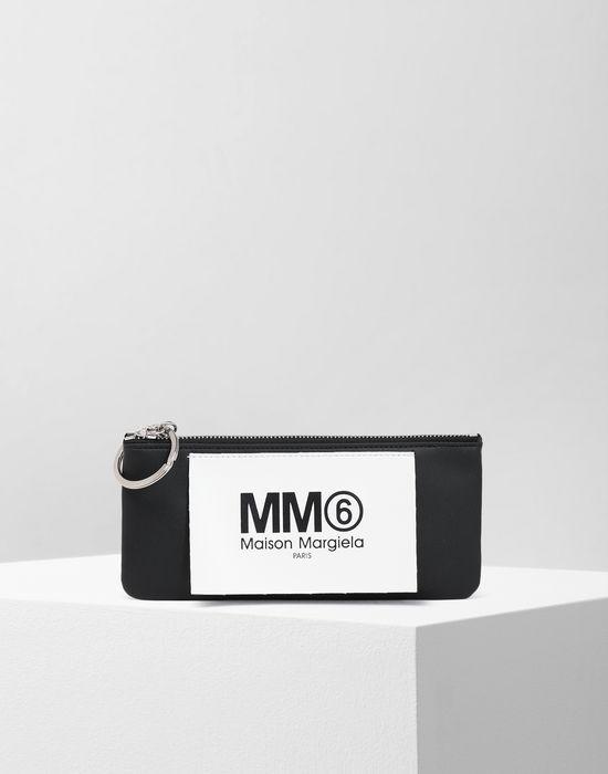 MM6 MAISON MARGIELA Logo tab zip leather pochette Wallet [*** pickupInStoreShipping_info ***] f