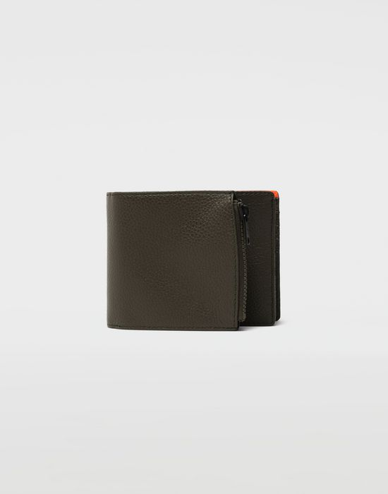 MAISON MARGIELA Small fold-out zipped leather wallet Wallets [*** pickupInStoreShippingNotGuaranteed_info ***] f