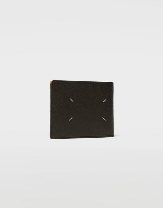 MAISON MARGIELA Small fold-out zipped leather wallet Wallets [*** pickupInStoreShippingNotGuaranteed_info ***] r
