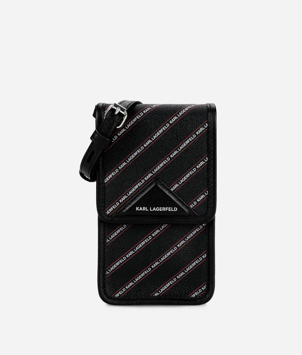 KARL LAGERFELD K/Stripe Logo Mini Crossbody Bag Pouch Woman f