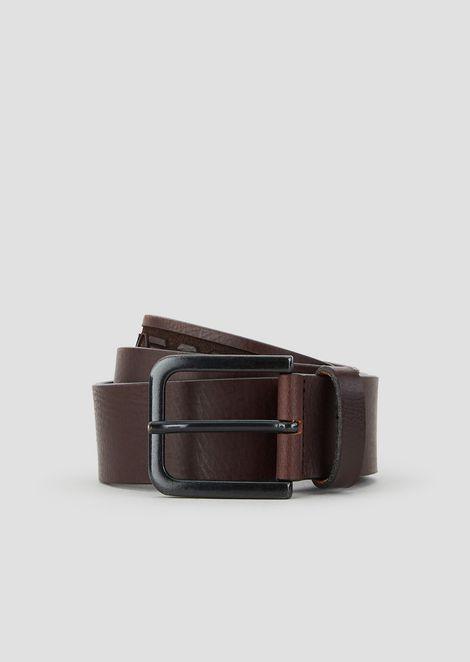 Emporio Armani 标识皮革腰带