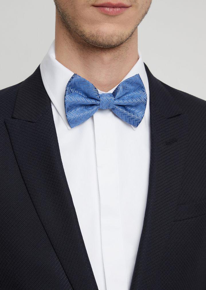 7a815ca58a7b Bow tie in pure silk with geometric motif | Man | Emporio Armani