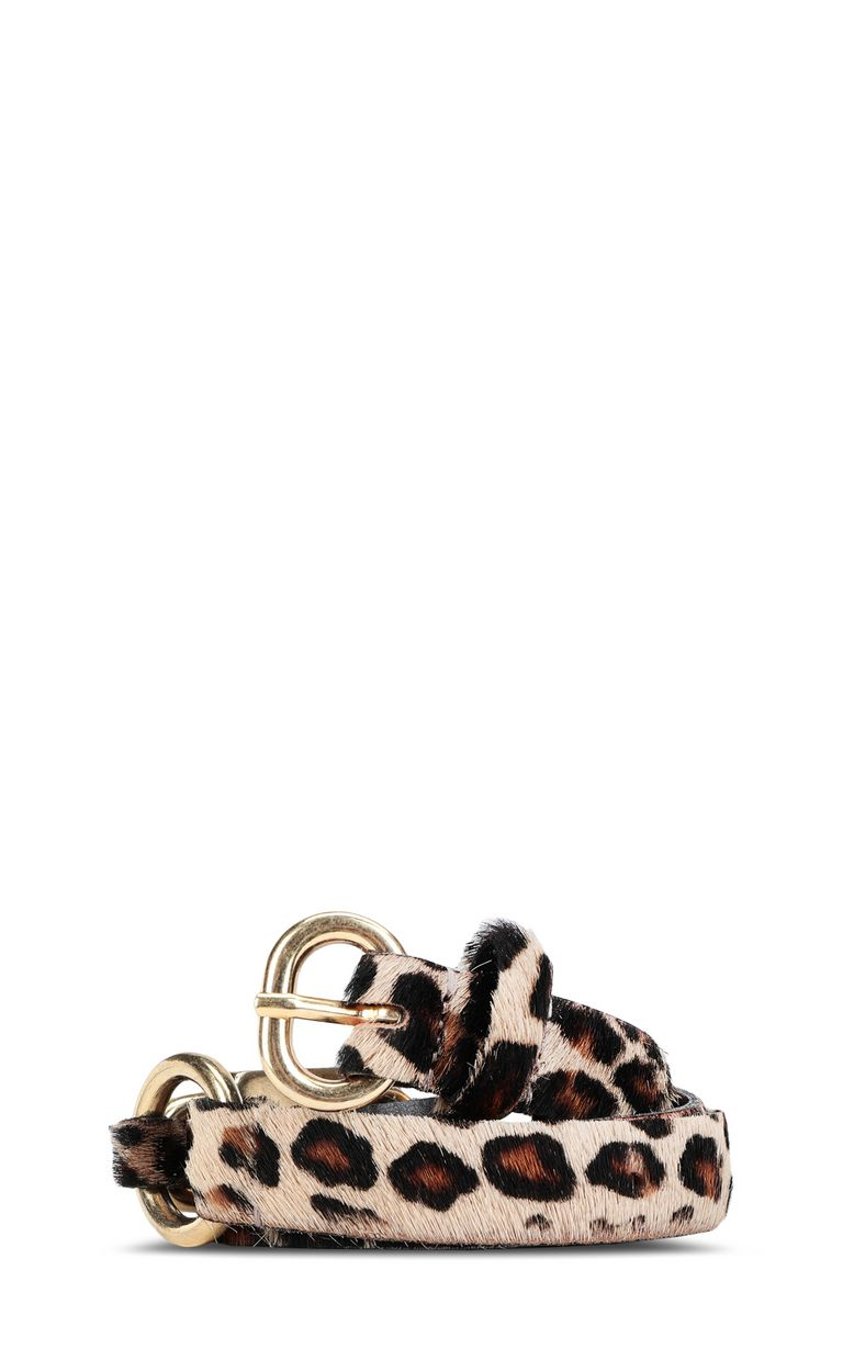 JUST CAVALLI Cintura cavallino leopardata Cintura Donna f