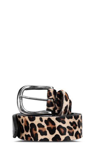 Leopard-spot belt with flame detail