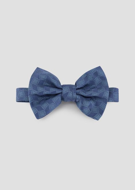 Bow tie in pure silk with two-color pattern