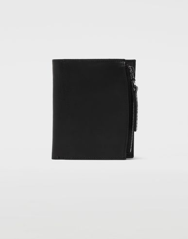 ACCESSORIES Large leather wallet Black