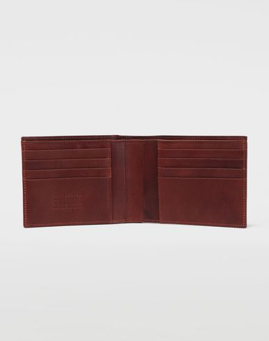 ACCESSORIES Folded leather wallet Brown