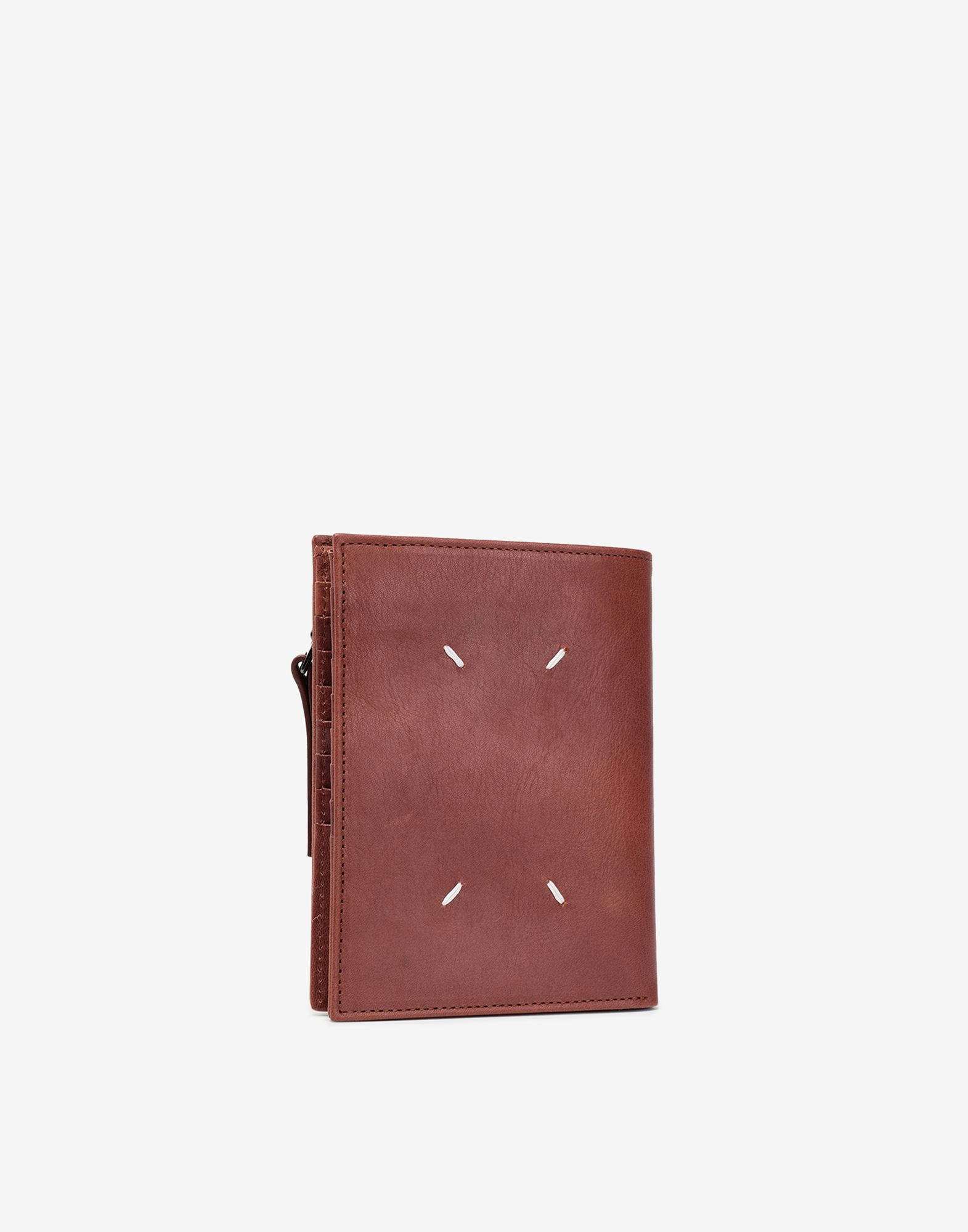 MAISON MARGIELA Folded leather wallet Wallet Man r