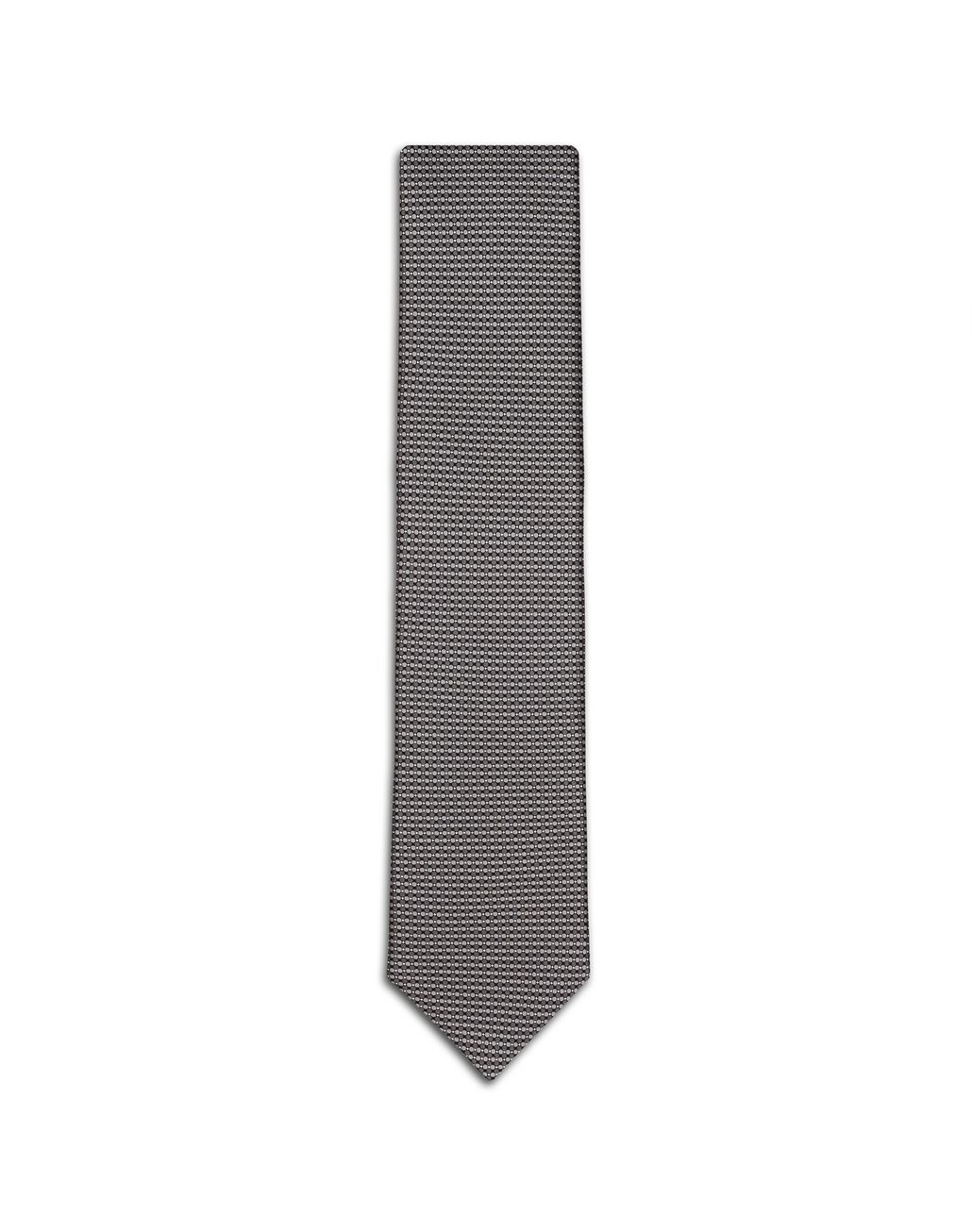 BRIONI Grey Micro Design Tie Tie Man f