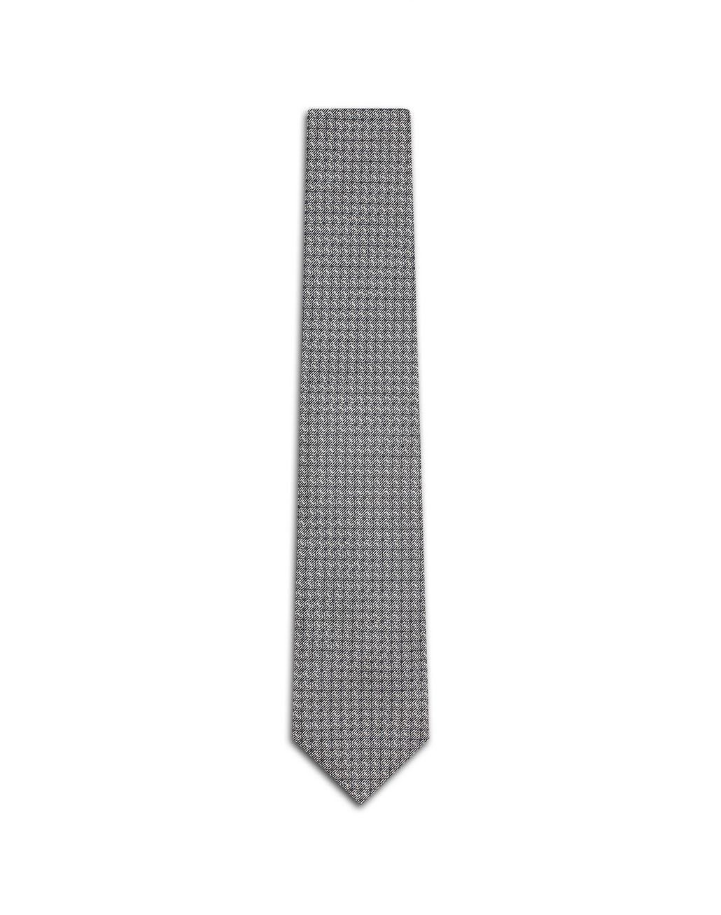 BRIONI Grey Micro Design Tie Tie [*** pickupInStoreShippingNotGuaranteed_info ***] f