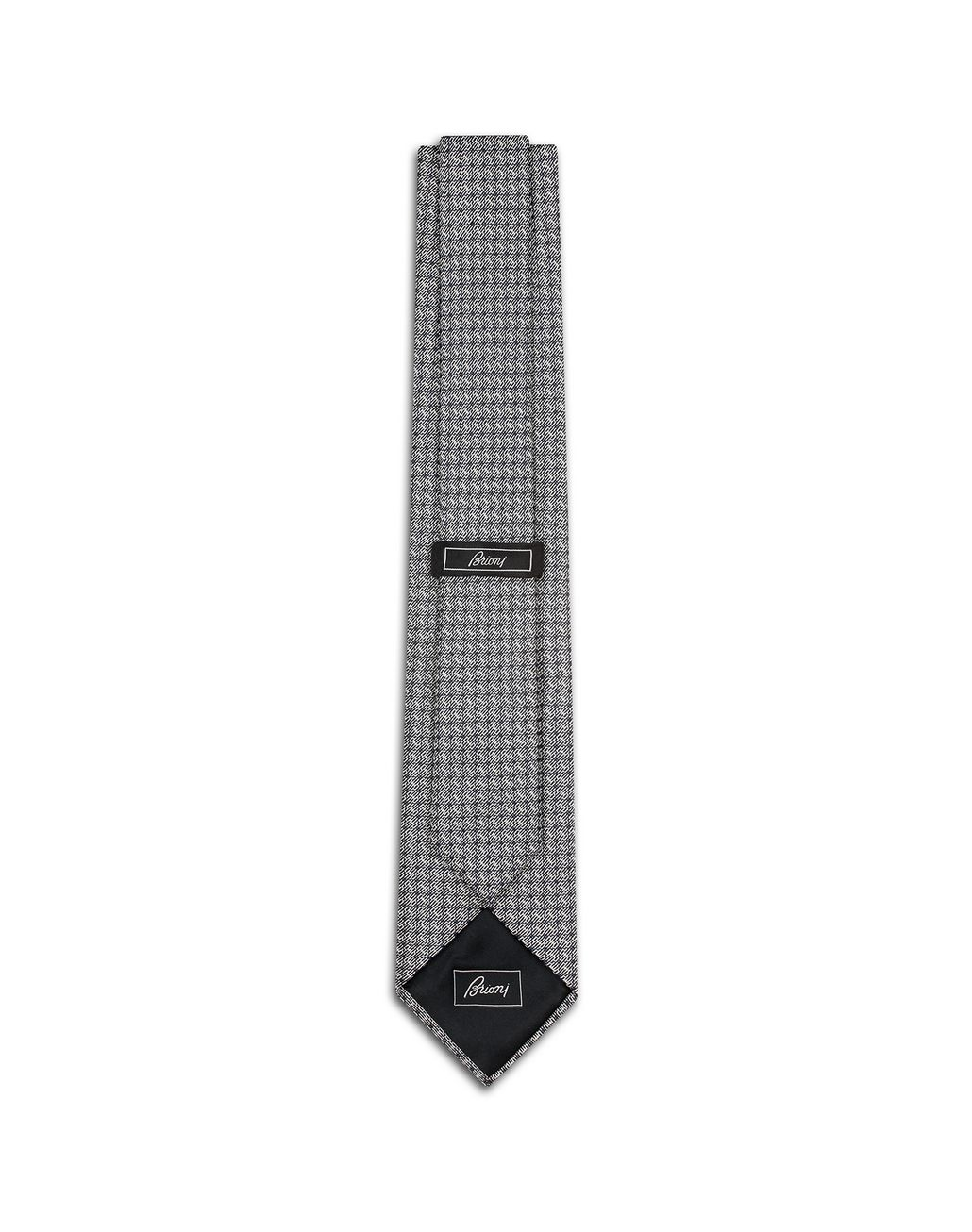 BRIONI Grey Micro Design Tie Tie [*** pickupInStoreShippingNotGuaranteed_info ***] r