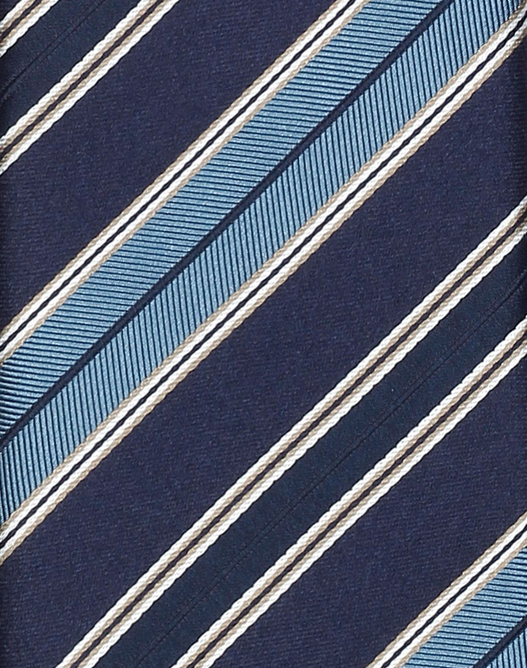BRIONI Blue Regimental Tie Tie [*** pickupInStoreShippingNotGuaranteed_info ***] d
