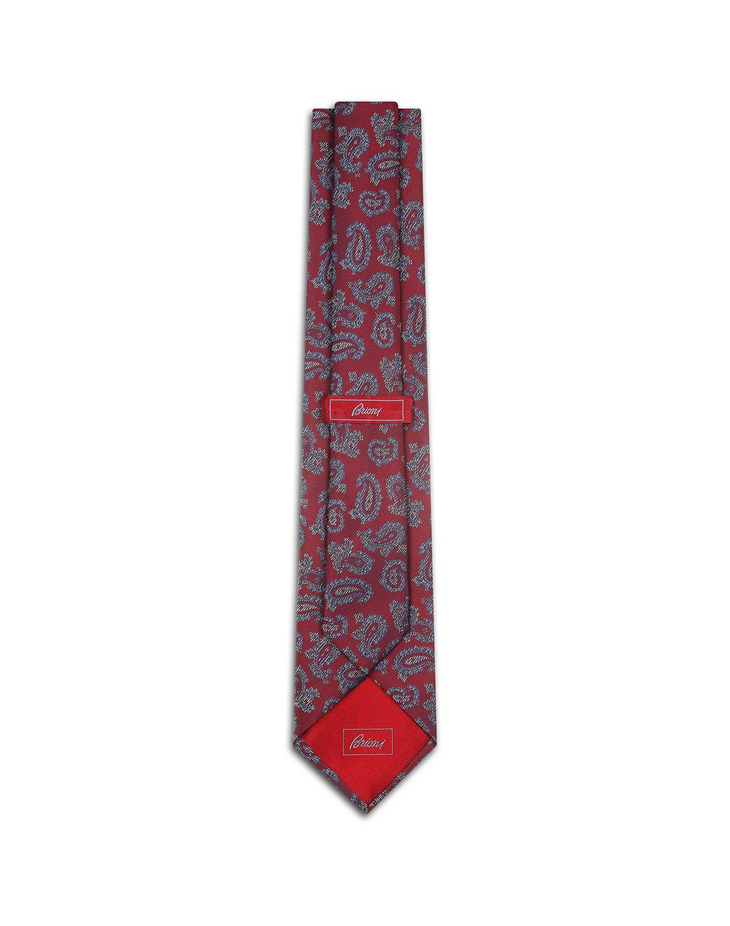BRIONI Bordeaux Paisley Tie Tie [*** pickupInStoreShippingNotGuaranteed_info ***] r