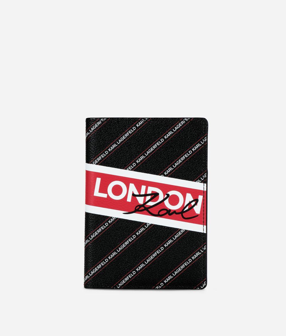 KARL LAGERFELD K/City パスポート ホルダー ロンドン カードケース レディース f
