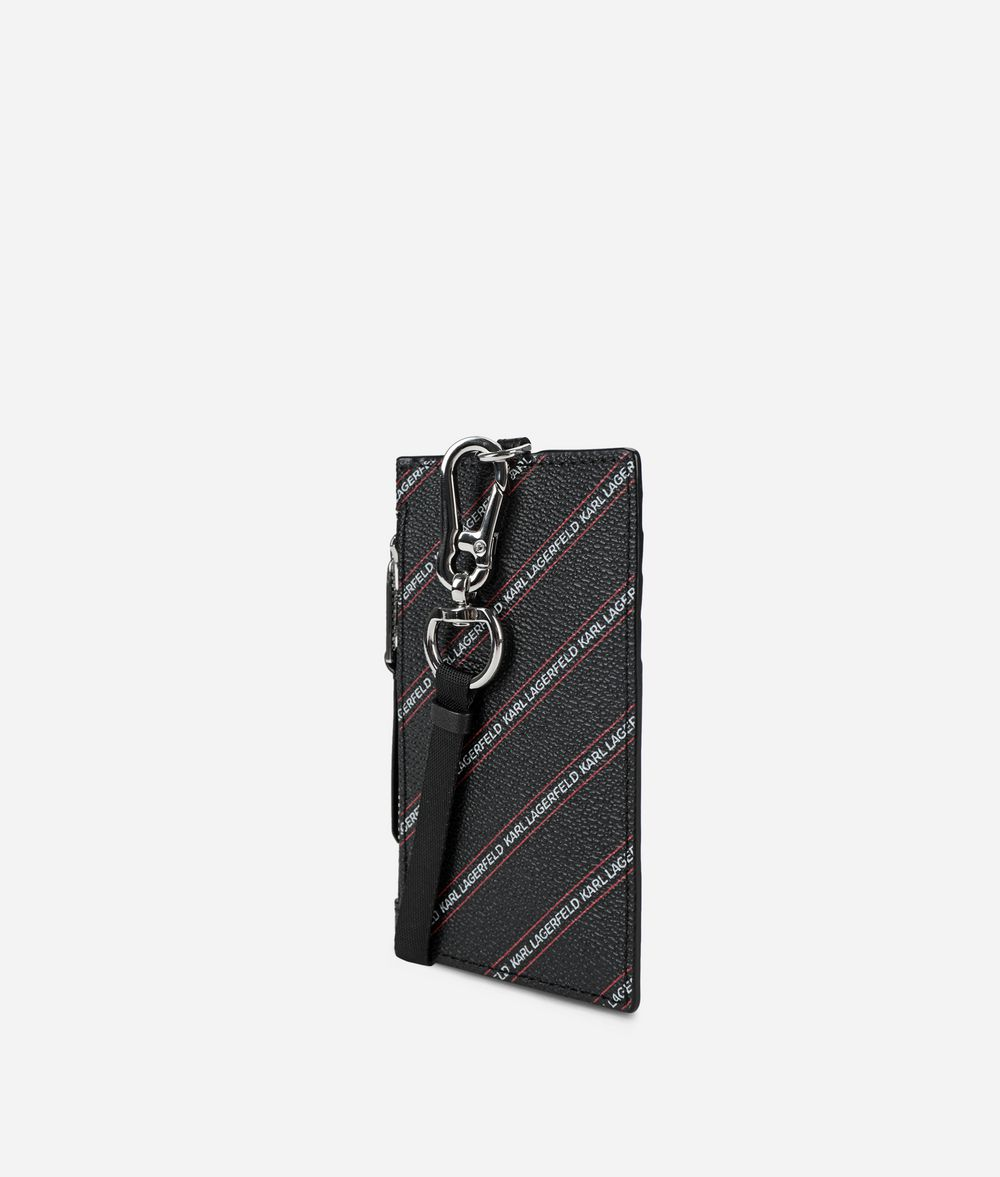 KARL LAGERFELD K/Stripe Logo Badge Holder Kartenetuis Damen d