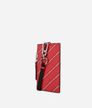 KARL LAGERFELD K/Stripe Logo Badge Holder Cardholder Woman d
