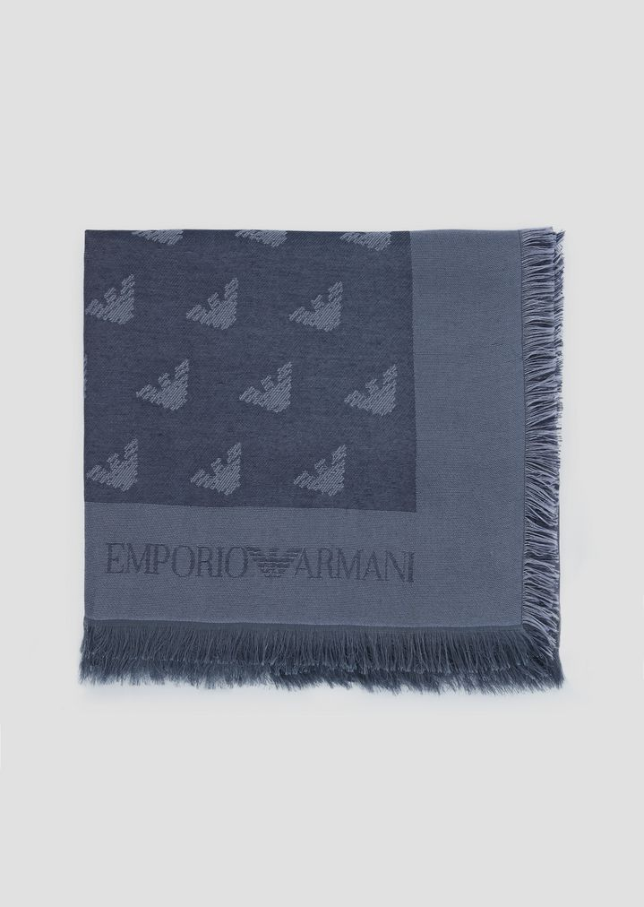 2af7cbdc64 Fabric scarf with all-over jacquard logo