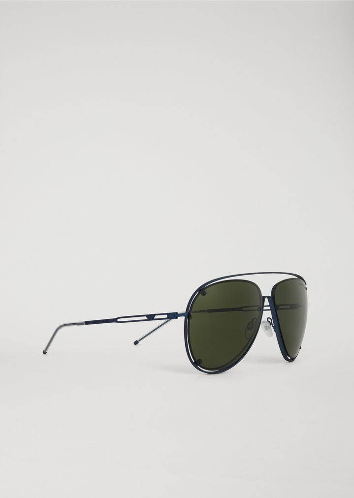 992a528bb452 Open Wire metal aviator sunglasses