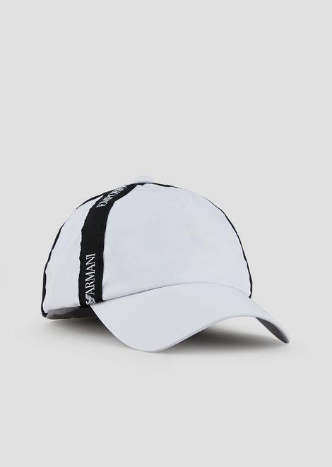 Baseball cap with logo taping