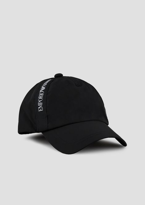 Baseball cap with logo taping